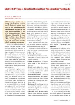 Elektrik Piyasası Tüketici Hizmetleri Yönetmeliği Yenilendi!