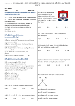 AEB ve AEB ve BED ve - MatematikBilgini.com