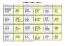 BİLİM KURULU / SCINTIFIC COMMITTEE