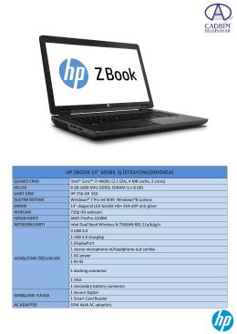 """HP ZBOOK 14"""" MOBİL İŞ İSTASYONU(F0V04EA)"""
