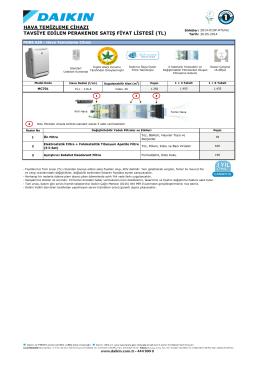 hava temizleme cihazı tavsiye edilen perakende satış fiyat