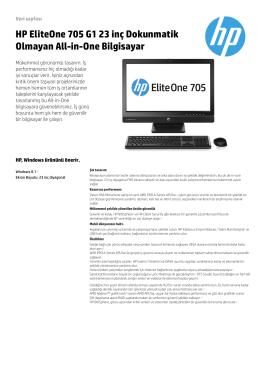 HP EliteOne 705 G1 23 inç Dokunmatik Olmayan