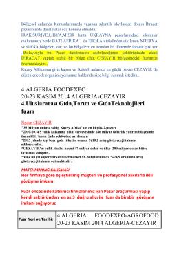 4.ALGERIA FOODEXPO 20-23 KASIM 2014 ALGERIA
