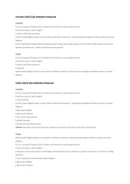tayvan vizesi için gereken evraklar togo vizesi için