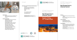 Contact Kayseri, Turkey 12 – 14 March 2015 ESCMID