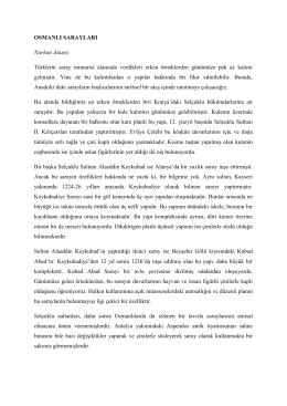 Osmanlı Sarayları için TIKLAYINIZ…