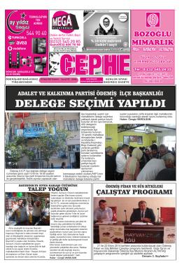 20.10.2014 Tarihli Cephe Gazetesi