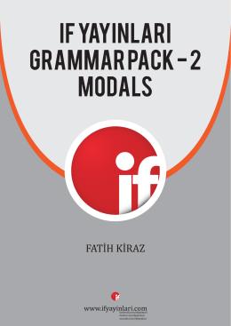 IF YAYINLARI GRAMMAR PACK - 2 modals