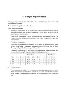 Federasyon Kupası Statüsü