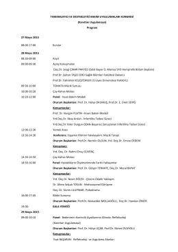 Program 27 Mayıs 2015 08:00-17:00 Kurslar