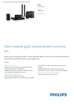 Product Leaflet: DVD Çift Bas Sesi 5.1 Ev sineması