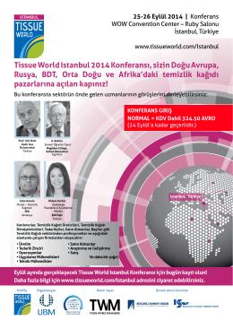 Tissue World Istanbul 2014 Konferansı, sizin Doğu Avrupa, Rusya