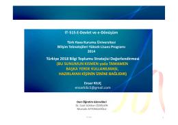 Türkiye 2018 Bilgi Toplumu Stratejisi