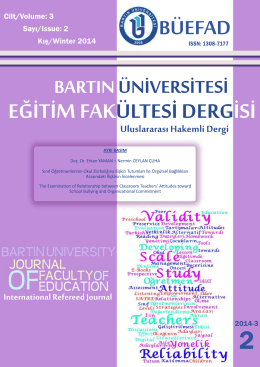 PDF İndir - bartın üniversitesi eğitim fakültesi dergisi