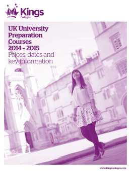 UK University Preparation Courses 2014 – 2015 Prices