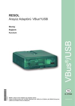 Montaj talimatları VBus®/USB
