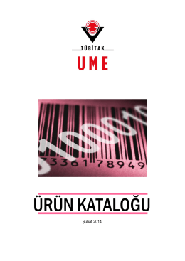 ÜRÜN KATALOĞU - Ulusal Metroloji Enstitüsü