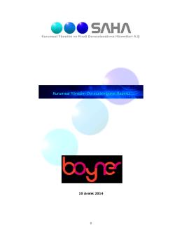 10.12.2014 - SAHA Kurumsal Yönetim ve Kredi Derecelendirme
