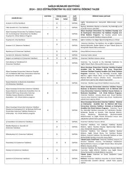 sağlık bilimleri enstitüsü 2014