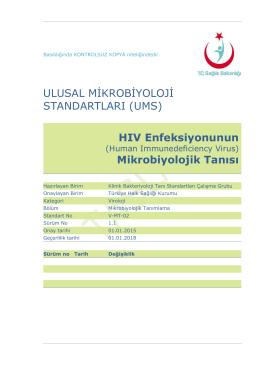 HIV enfeksiyonu - Türkiye Halk Sağlığı Kurumu