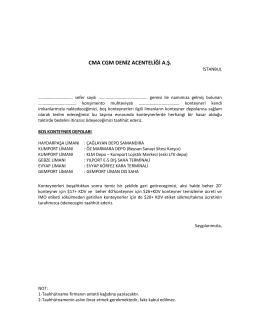 CMA CGM DENİZ ACENTELİĞİ A.Ş.