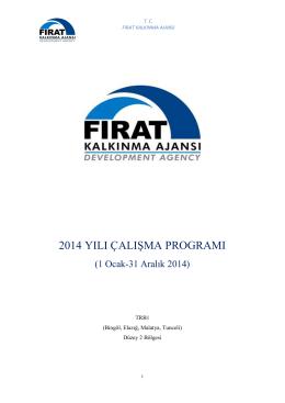 2014 yılı çalışma programı