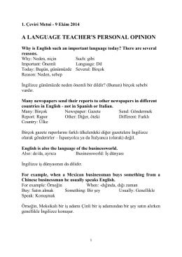 1. Çeviri metnini indirmek için tıklayınız.