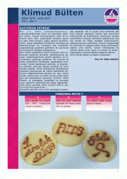 KLİMUD e-bülten Aralık 2014 - Klinik Mikrobiyoloji Uzmanlık Derneği