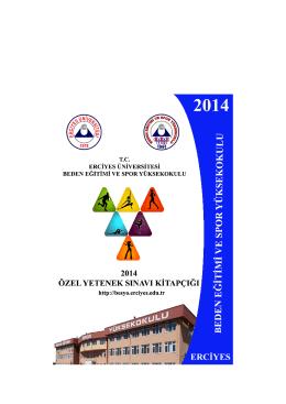 Tıklayınız - Erciyes Üniversitesi Beden Eğitimi ve Spor Yüksekokulu