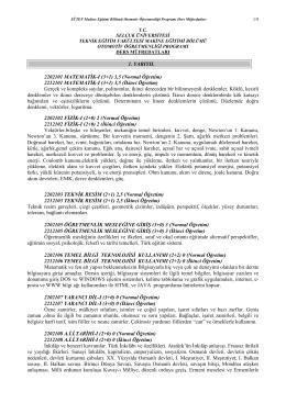 Otomotiv Öğretmenliği - Selçuk Üniversitesi