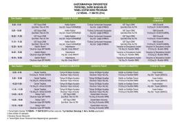 12 nisan – 11 mayıs 2014 - Personel Daire Başkanlığı
