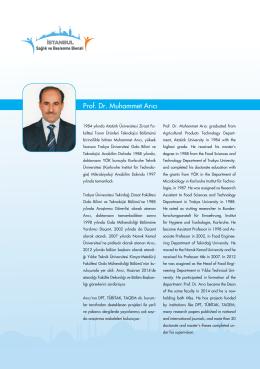 Prof. Dr. Muhammet Arıcı