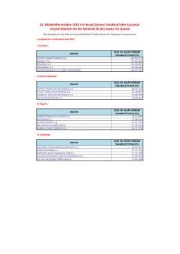 Büyük Mükellefler Vergi Dairesi Başkanlığı Mükellefleri 2013 Yılı