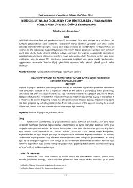 içgüdüsel satınalma ölçeklerinin türk tüketiciler için