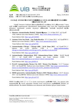 2015 oib milli katılım organizasyonları
