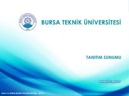 Kimya Mühendisliği - Bursa Teknik Üniversitesi
