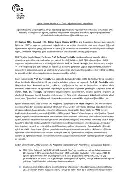 Basın Bülteni - Eğitim Reformu Girişimi