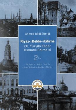 Riyâz-ı Belde-i Edirne 2-1 Cilt