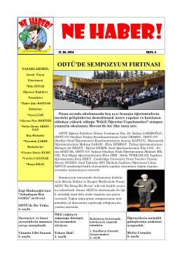 Sayı 4 - ODTÜ Geliştirme Vakfı Okulları