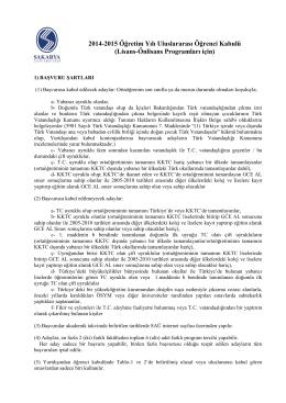 Lisans-Önlisans Programları için - index