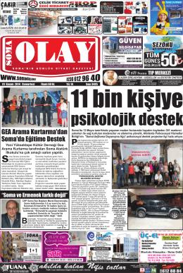 01 Kasım 2014 - Soma Olay Gazetesi