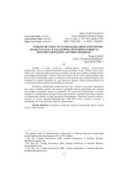 16, Sayı: 1, Yıl: 2014, Sayfa: 53-81 ISSN: 1302-3284