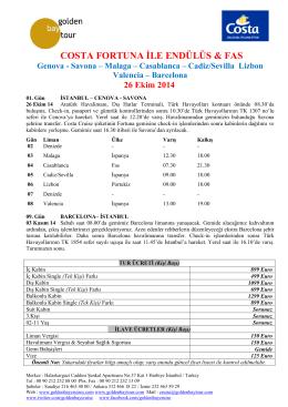 26 Ekim 2014 - Golden Bay Gemi Turları Cruise