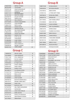 Group A Group C Group D Group B