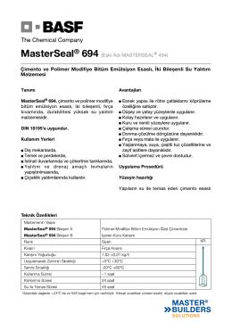 MasterSeal® 694 (Eski Adı MASTERSEAL® 494) Çimento