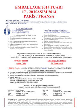 emballage 2014 fuarı 17 - 20 kasım 2014 paris / fransa