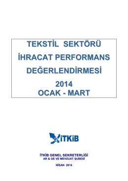 Tekstil Sektörü Raporu - Akdeniz İhracatçı Birlikleri