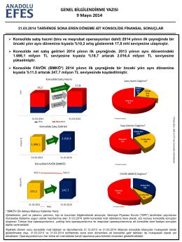 AEFES 31.03.2014 Finansal Sonuçlar Bilgilendirme