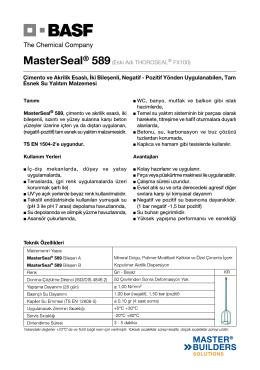 MasterSeal® 589(Eski Adı THOROSEAL® FX100