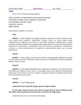 26 Ekim 2014 PAZAR Resmî Gazete Sayı : 29157